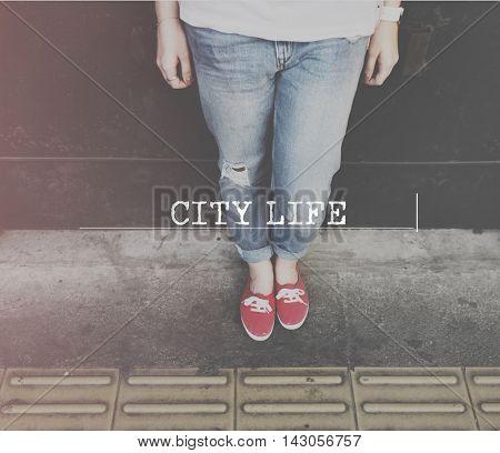 City Life Urban Downtown Metropolis Location Urbanite Concept