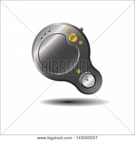 загадочное цифровое устройство, векторная иллюстрация для веб-дизайна и полиграфии