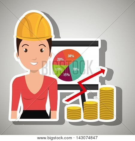 woman economy money vector illustration graphic eps 10