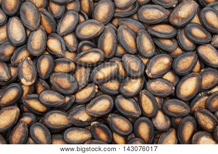 Close-up and detail of watermelon seeds background