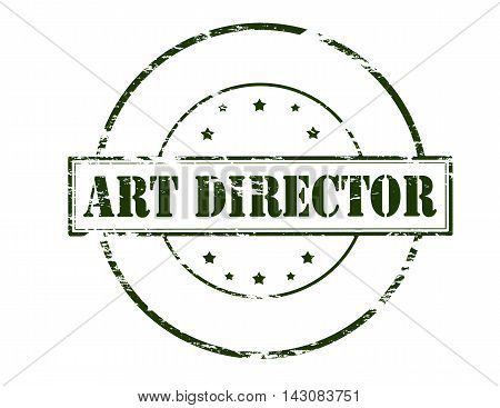 Rubber stamp with text art director inside vector illustration