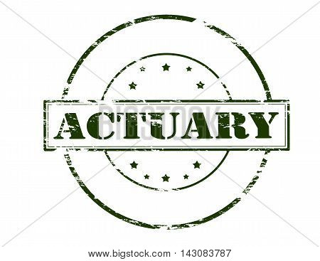 Rubber stamp with word actuary inside vector illustration