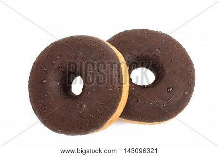 chocolate donut food on a white background