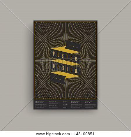 Trendy Geometric Element Poster Design