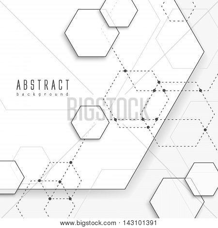Simplicity Hexagon Element Background Design