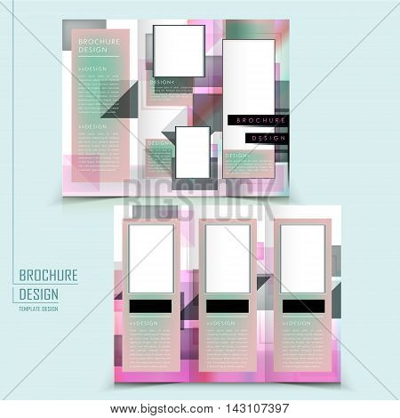 Abstract Tri-fold Template Design
