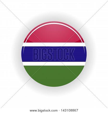Gambia icon circle isolated on white background. Banjul icon vector illustration