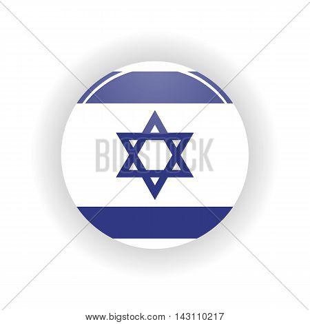 Israel icon circle isolated on white background. Jerusalem icon vector illustration