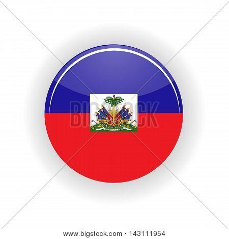 Haiti icon circle isolated on white background. Port au Prince icon vector illustration