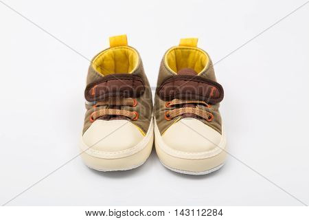 Baby shoes isolated on white background, Baby shoes