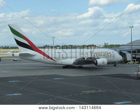 Airbus A380 Of The Emirates Airlines