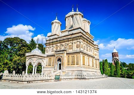 Romania. Curtea de Arges Monastery 16th century Wallachia landmark Romanian orthodox culture. Ana and Manole legend.