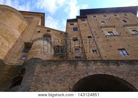 wall of Palazzo Ducale in Urbino, Italy Palazzo Ducale