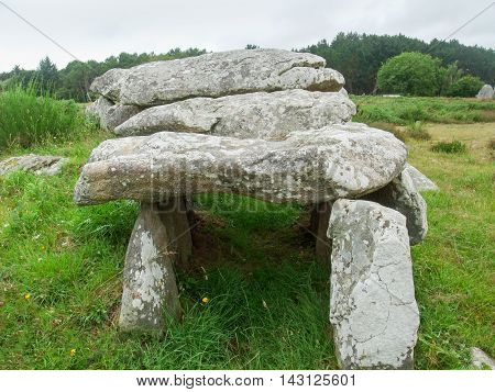 a dolmen near Carnac in Brittany France