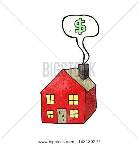 freehand speech bubble textured cartoon housing market