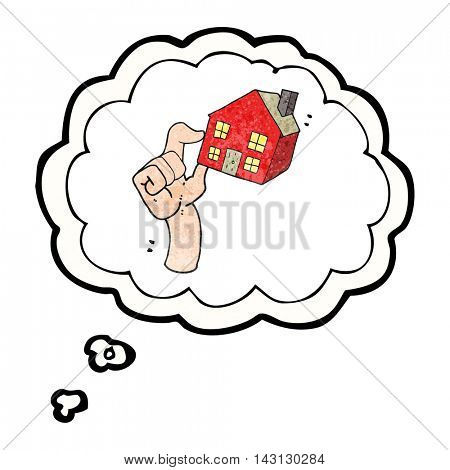 freehand drawn thought bubble textured cartoon housing market