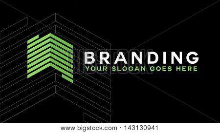 Real estate logo concept icon. Building logo illustration. Skyscraper logo design. Abstract building logo. Vector tall business building.