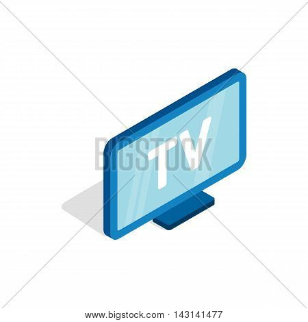 TV screen icon in isometric 3d style on a white background