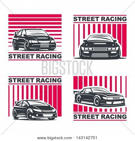 Streetracing Emblem Set