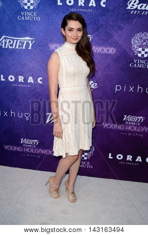 LOS ANGELES - AUG 16:  Emily Robinson at the Variety Power of Young Hollywood Event at the Neuehouse on August 16, 2016 in Los Angeles, CA