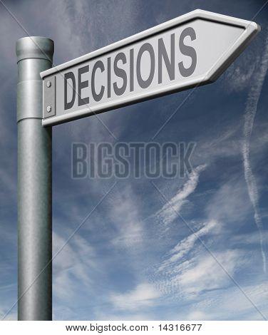 Haciendo la señal de tráfico de decisiones Clipping Path