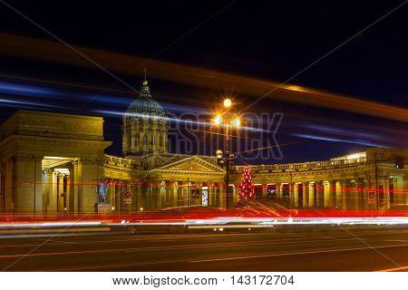 Kazan Cathedral on the Nevsky Prospekt in St. Petersburg