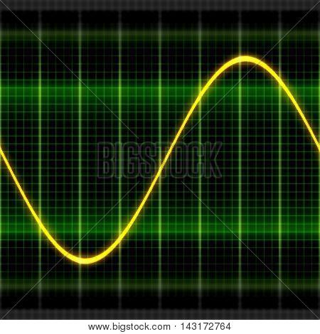Texture wave sine digital oscilloscope backgrounds display 2D illustration