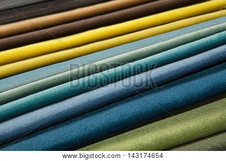 Textile Catalogue, Colorful Fabric Samples