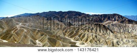 Zabriskie Point panorama in Amargosa Range at Death Valley National Park (California, USA)