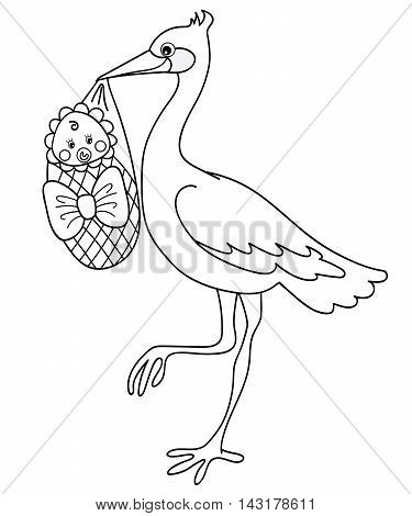 Black and white vector stock with baby