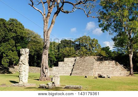 Honduras Mayan city ruins in Copan Central America
