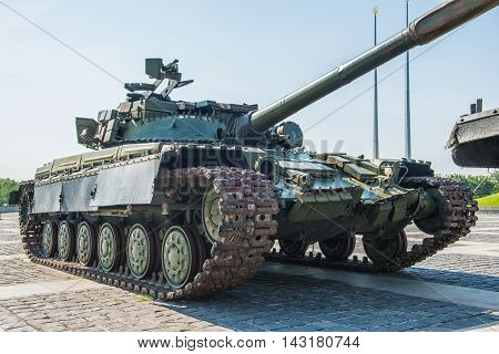The main tank T-64 of Ukrainian army. Established in the early 1960 's in the Kharkiv Morozov Design Bureau