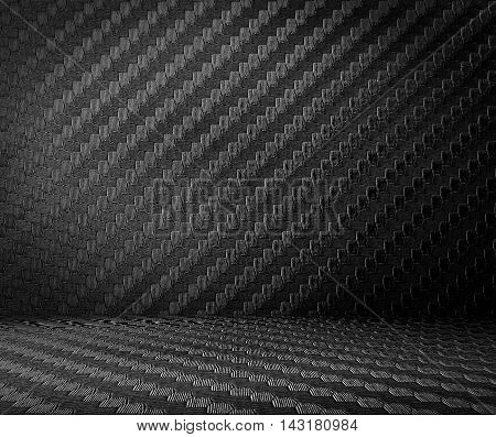 Close up carbon kevlar background pattern use for text products.