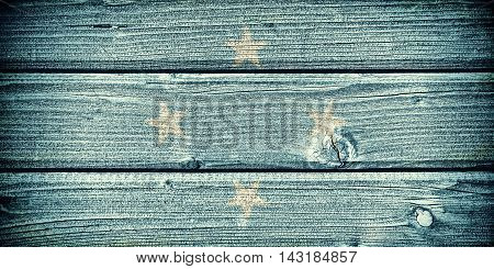 Flag of Micronesia painted on old grungy wooden background: 3d illustration
