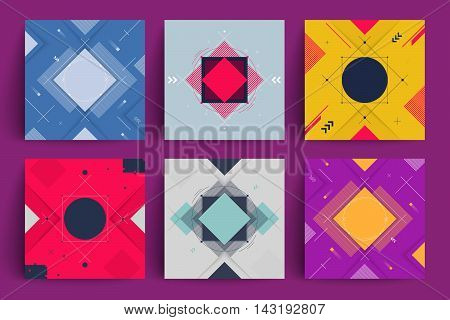 Abstract covers set. 2d motion design. Applicable for covers, placards, posters, flyers and banner designs. vector