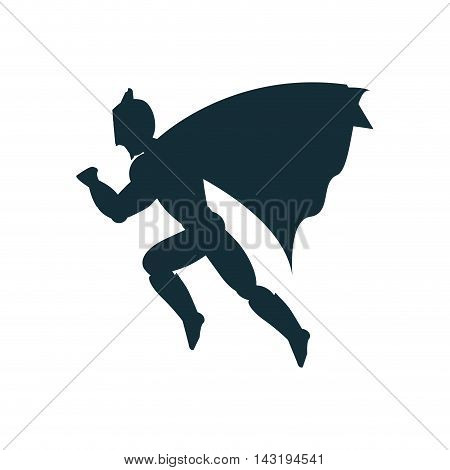 superhero costume avatar superman hero cartoon anime male icon. Flat and Isolated illustration. Vector illustration