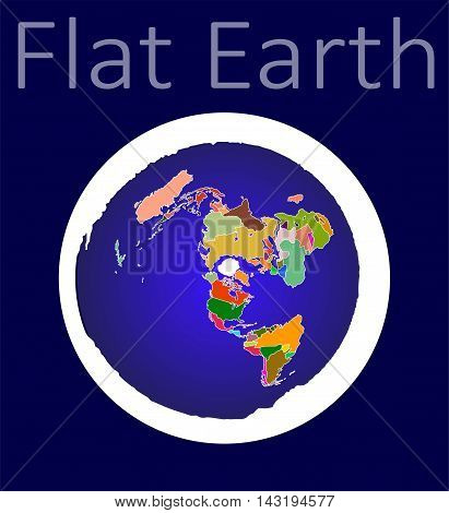Flat Earth map / Old Vision of Planet