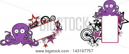 funny octopus cartoon copyspace set in vector format very easy to edit