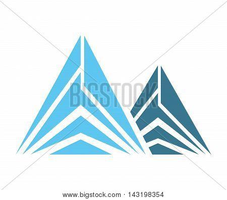 Ice Mountain isolated icon vector illustration design