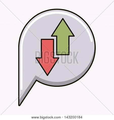 arrows up and down isolated icon vector illustration design
