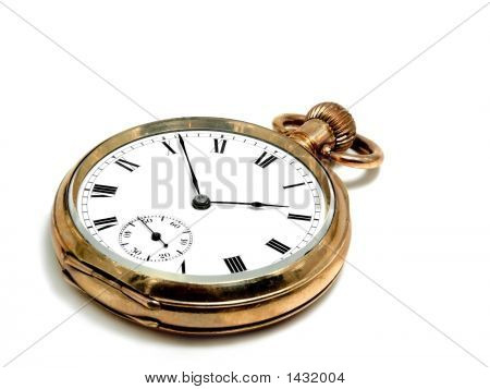 Pocket Clock In Gold