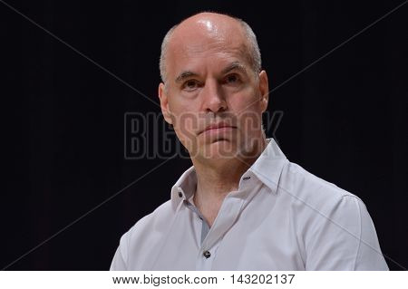 BUENOS AIRES ARGENTINA - NOV 25 2015: Horacio Rodriguez Larreta future mayor of Buenos Aires during a press conference with foreign media at the Buenos Aires Government House.