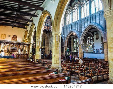 Holy Trinity Church In Stratford Upon Avon (hdr)