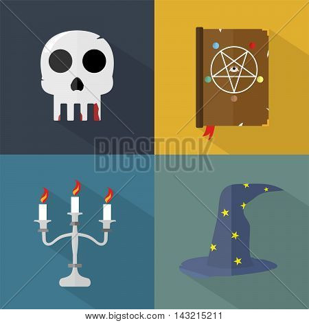 Halloween | Set of great flat icons with style long shadow icon and use for halloween, holiday, culture, event and much more.