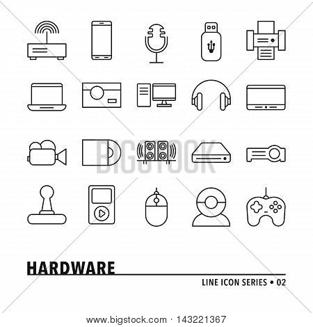 Vector Hardware Icons Set