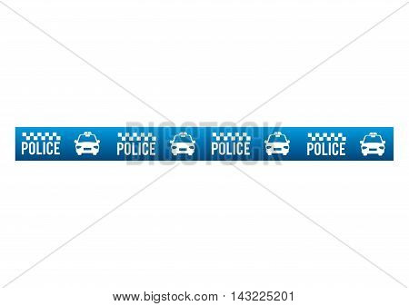 tape police blue dont cross security warning precaution restricted safety vector illustration