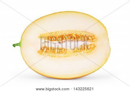 cantaloupe melon isolated on white background  ripe, cantaloupe, slice,