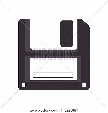 diskette disk old retro object file data information vector illustration