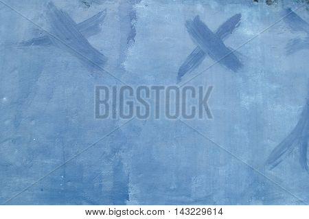 close up old blue cement wall texture background