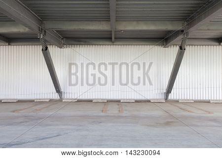 Empty space of indoor car parking lot
